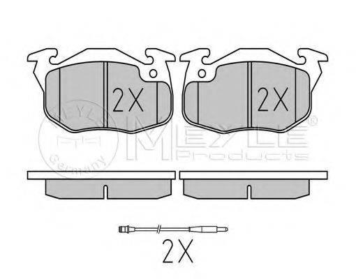 MEYLE 0252090518W Комплект тормозных колодок, дисковый тормоз