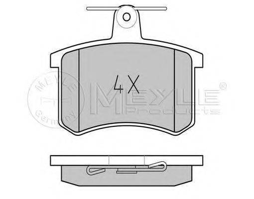 MEYLE 0252114416 Комплект тормозных колодок, дисковый тормоз