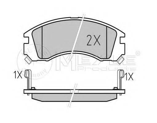 MEYLE 0252136315W Комплект тормозных колодок, дисковый тормоз