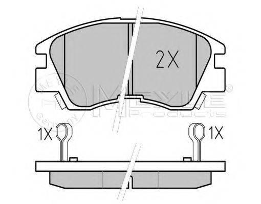 MEYLE 0252137316W Комплект тормозных колодок, дисковый тормоз