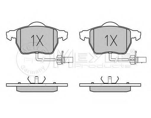 MEYLE 0252301820W Комплект тормозных колодок, дисковый тормоз
