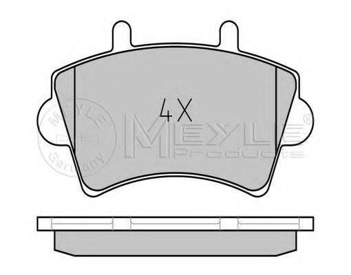 MEYLE 0252361318 Комплект тормозных колодок, дисковый тормоз