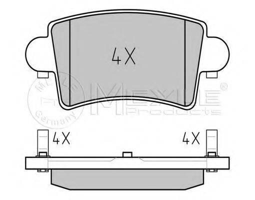 MEYLE 0252366916 Комплект тормозных колодок, дисковый тормоз