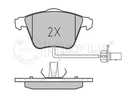 MEYLE 0252376220W Комплект тормозных колодок, дисковый тормоз