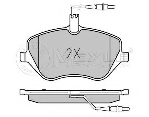 MEYLE 0252413317W Комплект тормозных колодок, дисковый тормоз