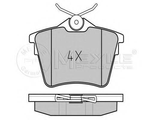 MEYLE 0252413517 Комплект тормозных колодок, дисковый тормоз