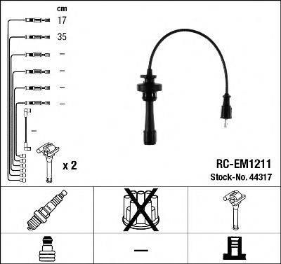 NGK 44317 Комплект проводов зажигания