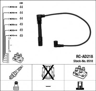 NGK 0518 Комплект проводов зажигания