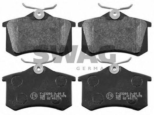 SWAG 30916457 Комплект тормозных колодок, дисковый тормоз