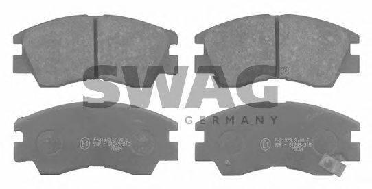 SWAG 80916128 Комплект тормозных колодок, дисковый тормоз