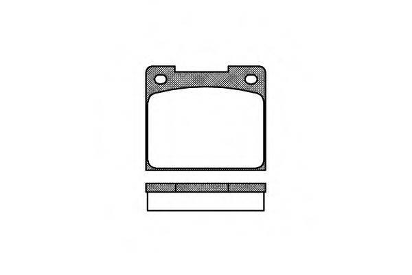 ROADHOUSE 203900 Комплект тормозных колодок, дисковый тормоз