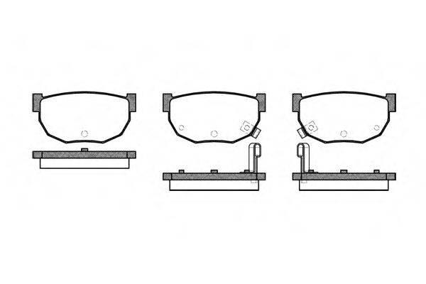 ROADHOUSE 215102 Комплект тормозных колодок, дисковый тормоз