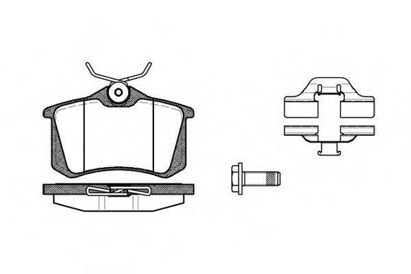 ROADHOUSE 226303 Комплект тормозных колодок, дисковый тормоз