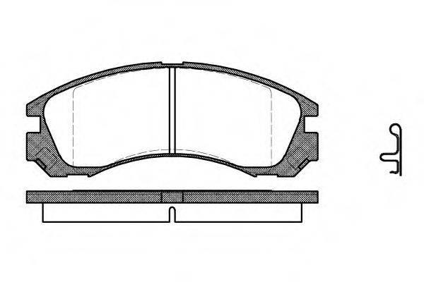 ROADHOUSE 235422 Комплект тормозных колодок, дисковый тормоз