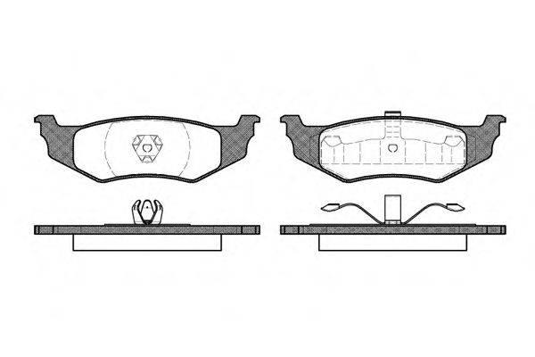 Комплект тормозных колодок, дисковый тормоз ROADHOUSE 2482.30