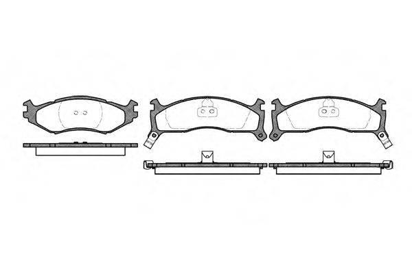Комплект тормозных колодок, дисковый тормоз ROADHOUSE 2484.02