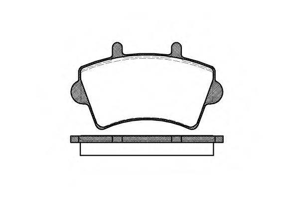 ROADHOUSE 281900 Комплект тормозных колодок, дисковый тормоз