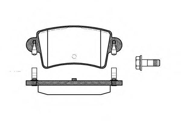 ROADHOUSE 283300 Комплект тормозных колодок, дисковый тормоз