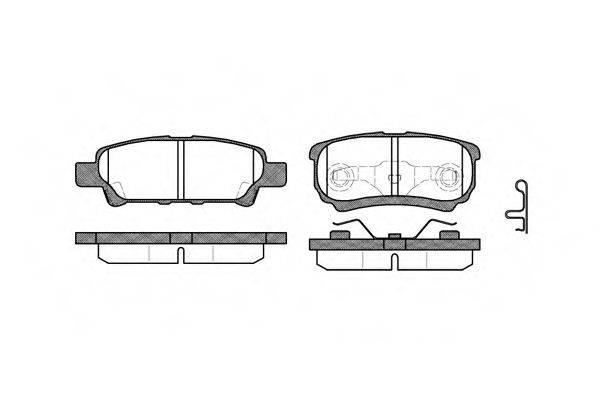 ROADHOUSE 2105102 Комплект тормозных колодок, дисковый тормоз