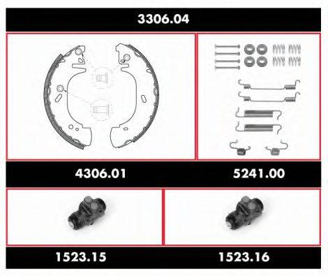 ROADHOUSE 330604 Комплект тормозов, барабанный тормозной механизм