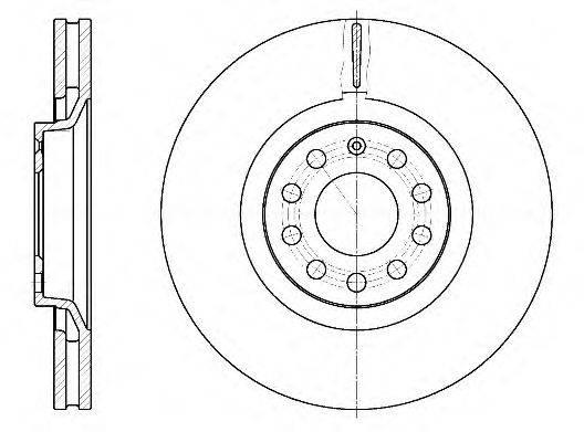 ROADHOUSE 673010 Тормозной диск