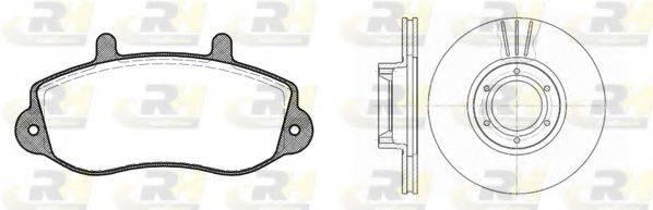 ROADHOUSE 867700 Комплект тормозов, дисковый тормозной механизм