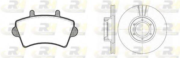 ROADHOUSE 881900 Комплект тормозов, дисковый тормозной механизм