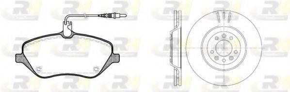 ROADHOUSE 8110100 Комплект тормозов, дисковый тормозной механизм