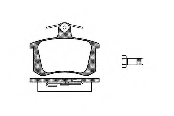 REMSA 013520 Комплект тормозных колодок, дисковый тормоз
