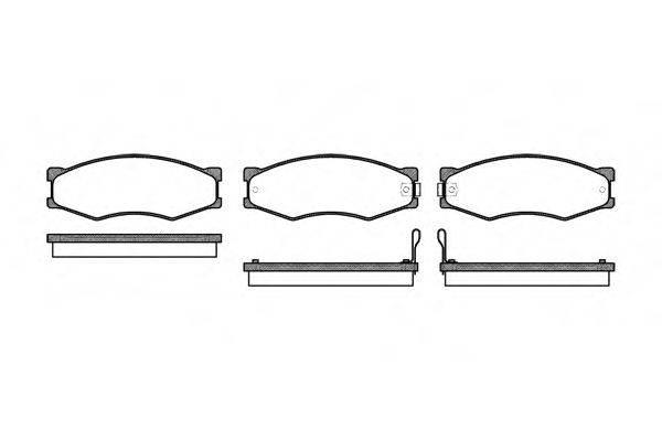 REMSA 018402 Комплект тормозных колодок, дисковый тормоз