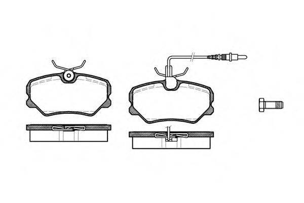REMSA 026202 Комплект тормозных колодок, дисковый тормоз
