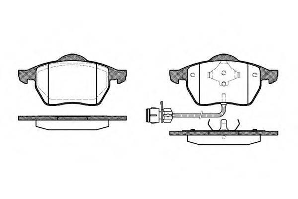 REMSA 039002 Комплект тормозных колодок, дисковый тормоз