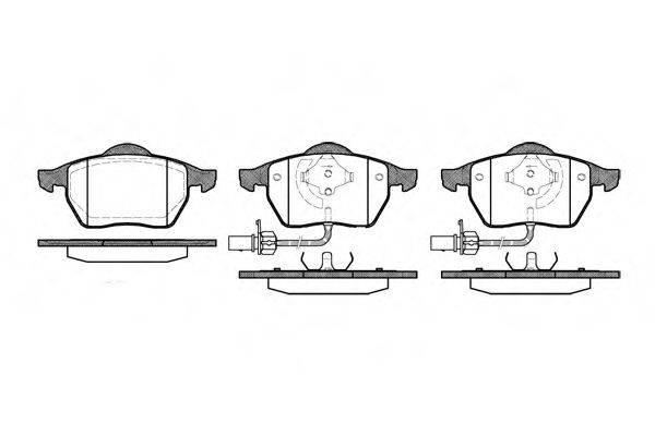 REMSA 039022 Комплект тормозных колодок, дисковый тормоз