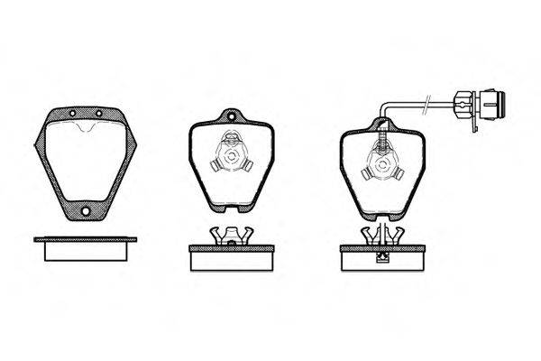 REMSA 050812 Комплект тормозных колодок, дисковый тормоз