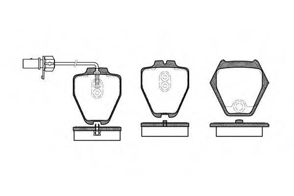 REMSA 075202 Комплект тормозных колодок, дисковый тормоз