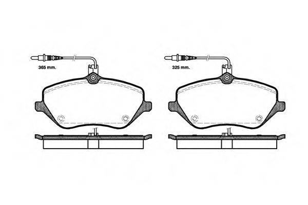REMSA 110104 Комплект тормозных колодок, дисковый тормоз