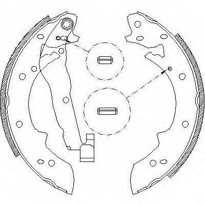REMSA 402701 Комплект тормозных колодок