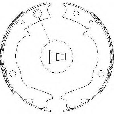 REMSA 470200 Комплект тормозных колодок, стояночная тормозная система