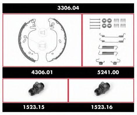 REMSA 330604 Комплект тормозов, барабанный тормозной механизм