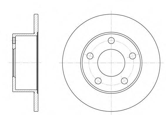 REMSA 612300 Тормозной диск