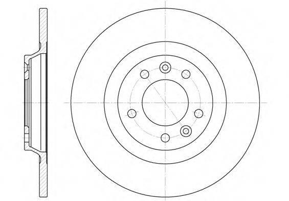REMSA 669000 Тормозной диск