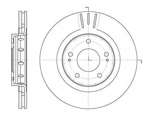 REMSA 689610 Тормозной диск