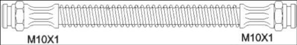 REMSA 190039 Тормозной шланг