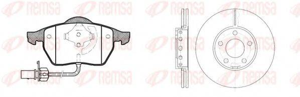REMSA 839000 Комплект тормозов, дисковый тормозной механизм