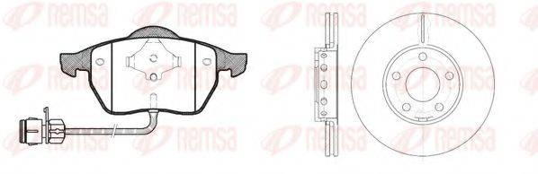 REMSA 839001 Комплект тормозов, дисковый тормозной механизм