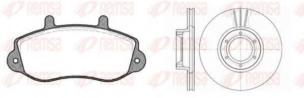 REMSA 867700 Комплект тормозов, дисковый тормозной механизм