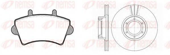 REMSA 881900 Комплект тормозов, дисковый тормозной механизм
