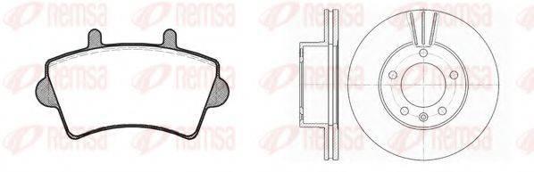 REMSA 881901 Комплект тормозов, дисковый тормозной механизм