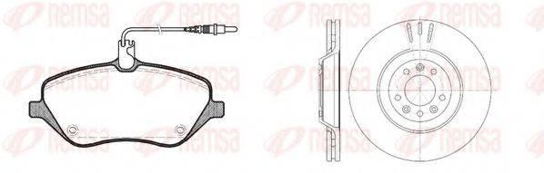 REMSA 8110100 Комплект тормозов, дисковый тормозной механизм
