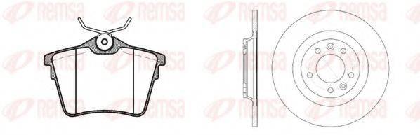 REMSA 8110300 Комплект тормозов, дисковый тормозной механизм